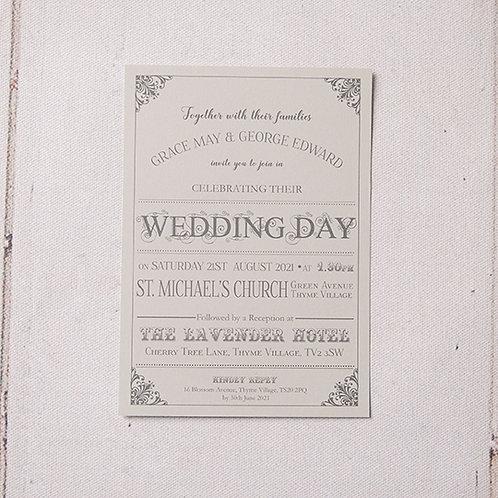 Sadie Flat Wedding Invitation