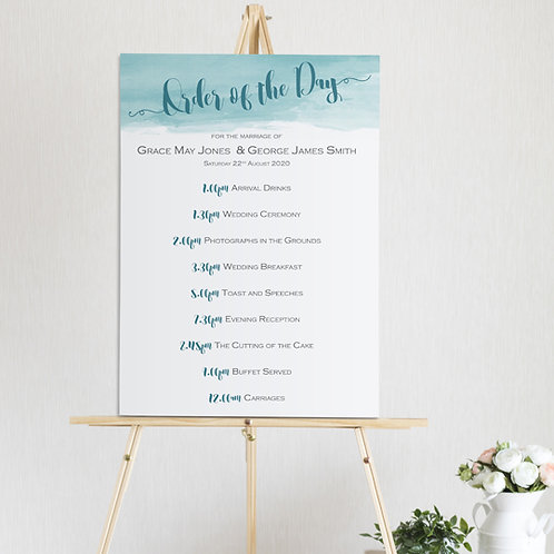 Theodora Order of the Day Sign