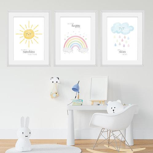 You are my Sunshine Print Set