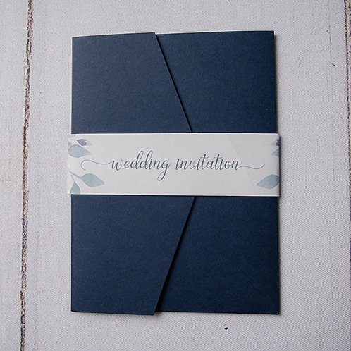 Laurel Pocket Wedding Invitation