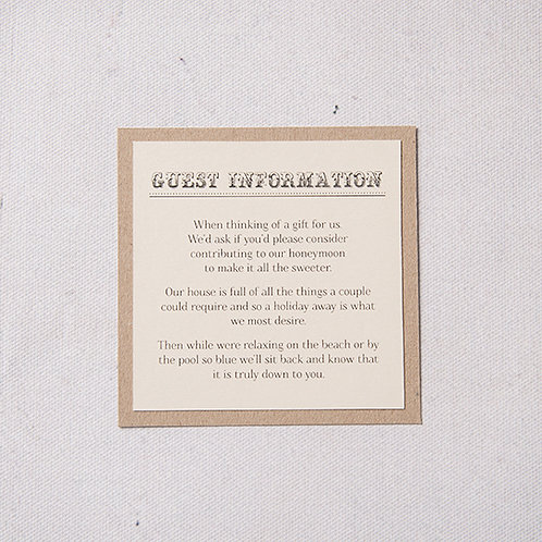 Betty Information Card