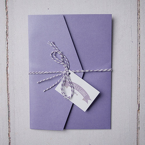 May Pocket Wedding Invitation