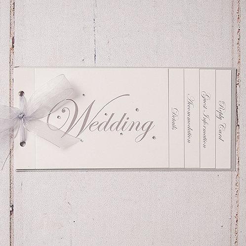 Emma Cheque Book Style Wedding Invitation