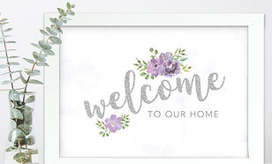 Print_Welcome to our Home_Silver and Mau