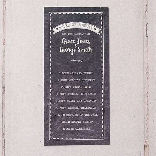 Harper Order of Day Card