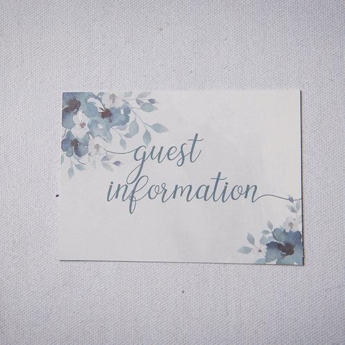 Laurel Information Card