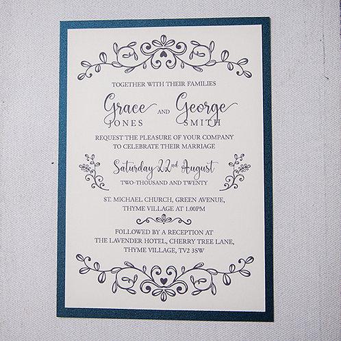 Paige Flat Wedding Invitation