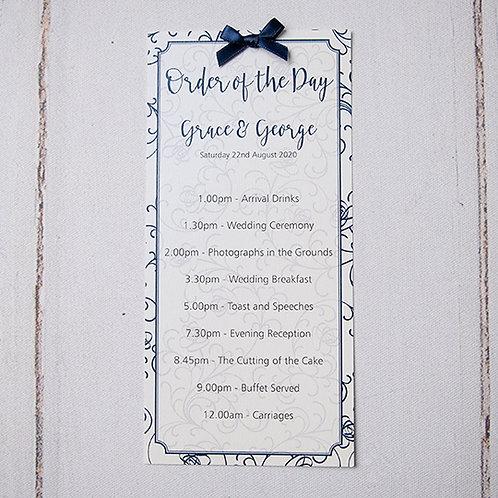 Sophia Order of Day Card