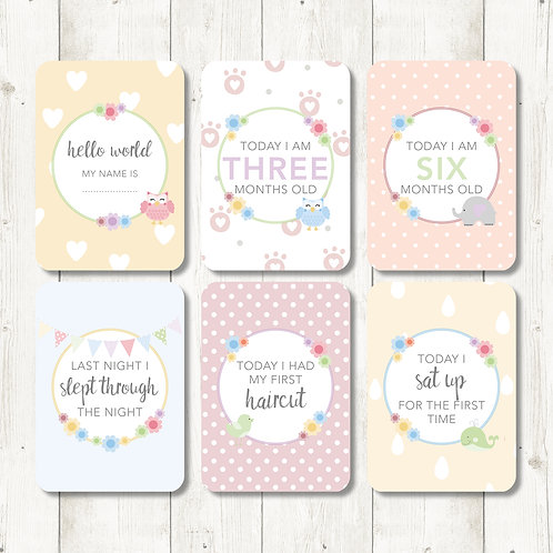 Cute Baby Milestone Cards
