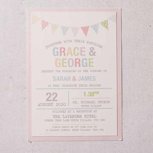 Freya Flat Wedding Invitation