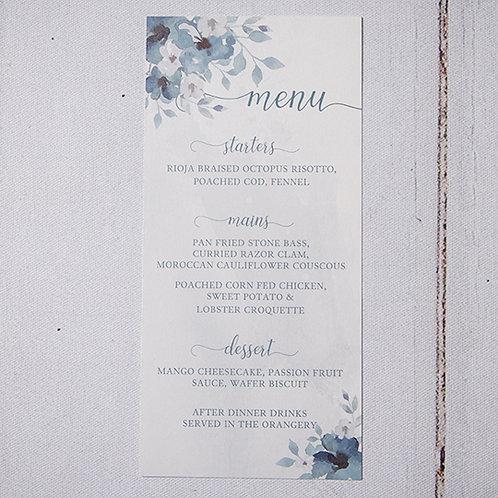 Laurel Table Menu