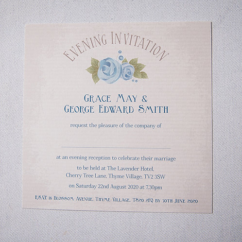 Polly Flat Evening Invitation