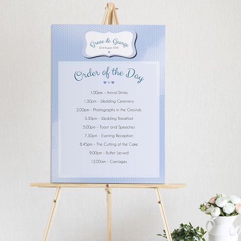 Dotty Order of the Day Sign