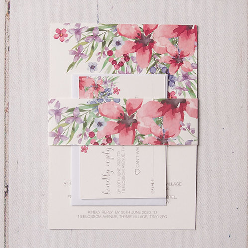 Flora Evening Invitation Bundle