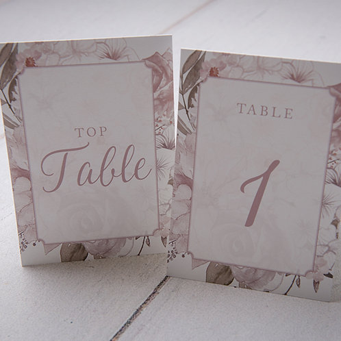 Summer Table Number