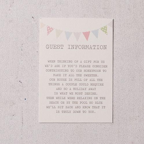 Freya Information Card