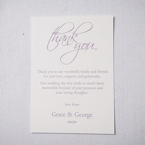 Grace Thank You Flat Card
