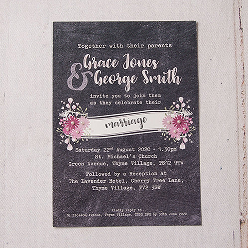Harriet Flat Wedding Invitation