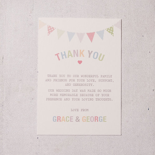 Freya Thank You Flat Card