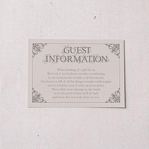 Sadie Information Card