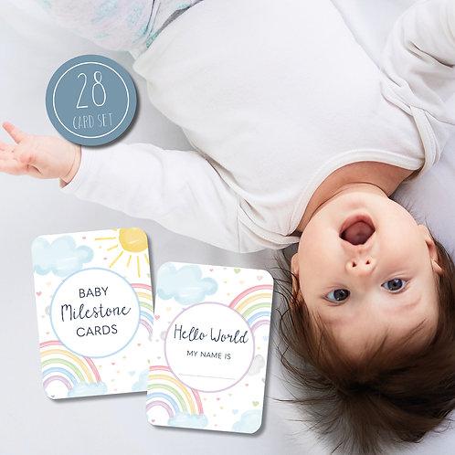 Weather Baby Milestone Cards