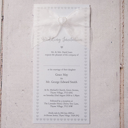 Bryony Flat Wedding Invitation