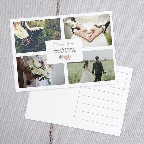 Fleur Thank You Postcard