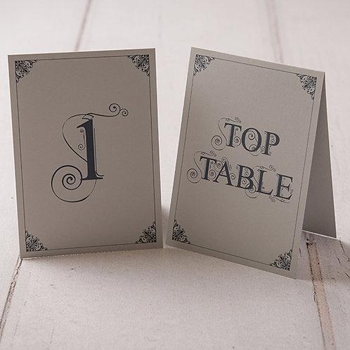 Sadie Table Number