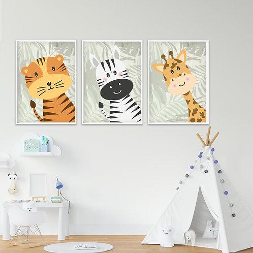 Jungle Collection Trio Print Set