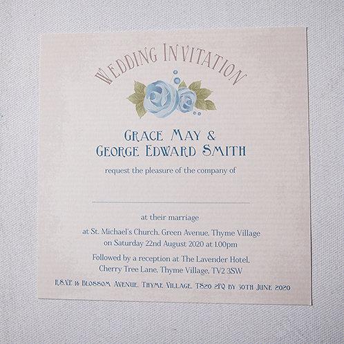 Polly Flat Wedding Invitation