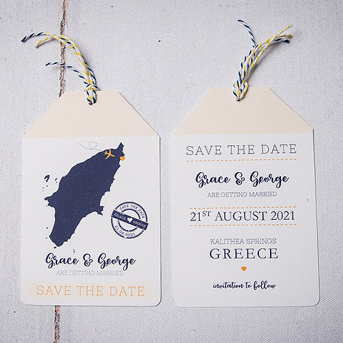 Travels Save the Date Luggage Tag