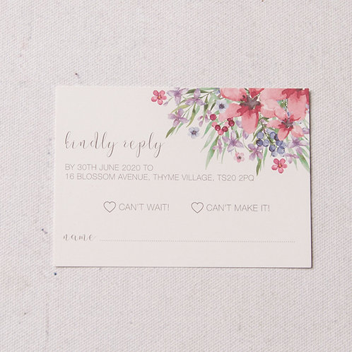 Flora Reply Card