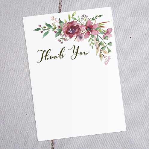 Belle Thank You Note Cards