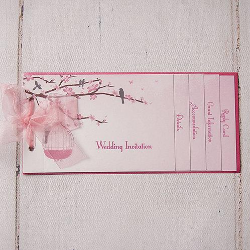 Erin Cheque Book Style Wedding Invitation