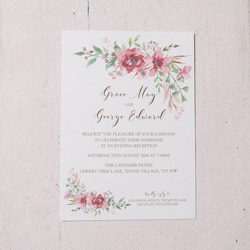 Belle Flat Evening Invitation