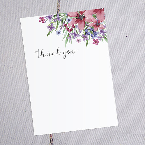 Flora Thank You Note Cards