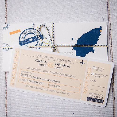Travels Wedding Invitation