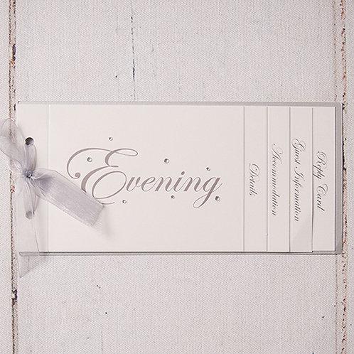 Emma Cheque Book Style Evening Invitation