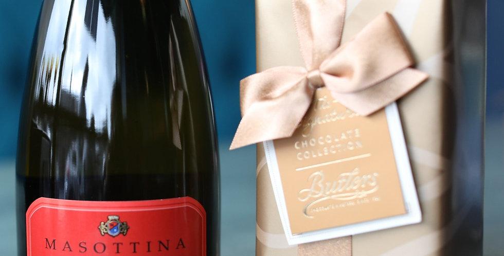 Premium Prosecco Gift Set: Two Bottles with Irish Chocolates