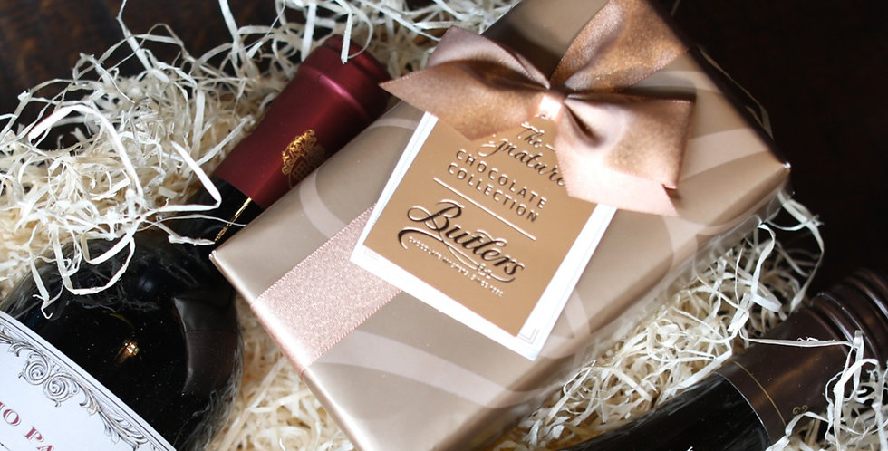 Premium Wine Gift Set with Irish Chocolates