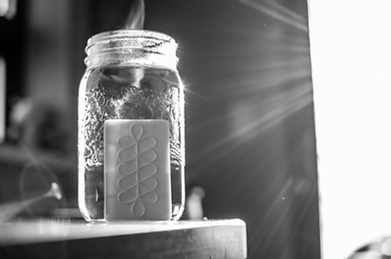 glass jar and card black and whiite.png