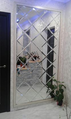 Зеркальное панно в декор рамке, euro facet