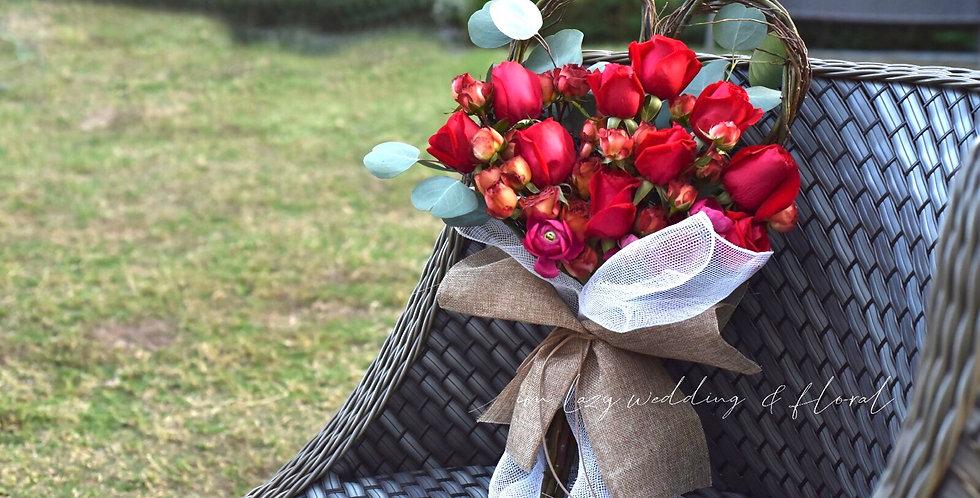《 權力遊戲》系 -  紅玫瑰花 生日花 紀念日花  觀塘花店 韓式花藝 flower delivery 網上花店