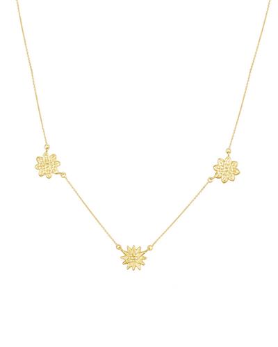 Three Flower Garland Necklace