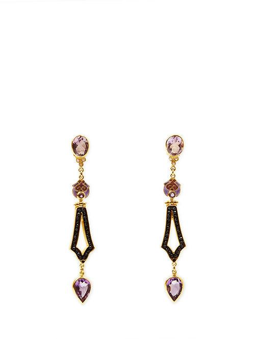 Amethyst Dèco Earrings