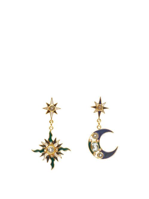Topaz Sun & Moon Earrings