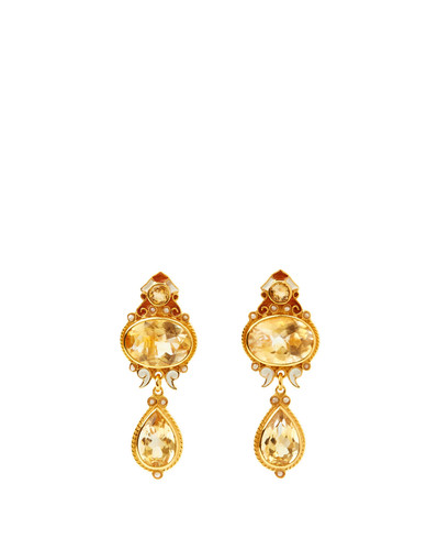 Citrine Enamel Earrings