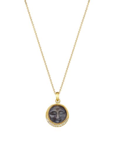 Sapphire Moonface Necklace