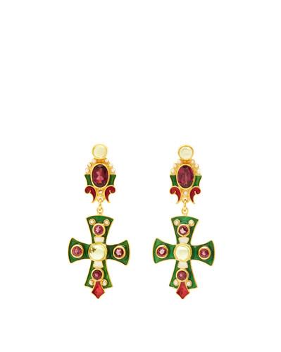 Rhodolite & Peridot Earrings