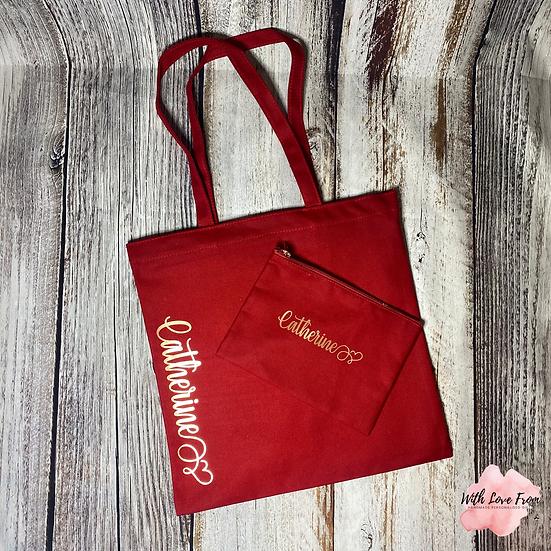 Personalised Makeup and Tote Bag Set